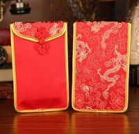 1pcs Chinese Dragon Peony Plum Pattern Chinese Button Chinese Wedding Cloth Red Packets Gift Envelopes