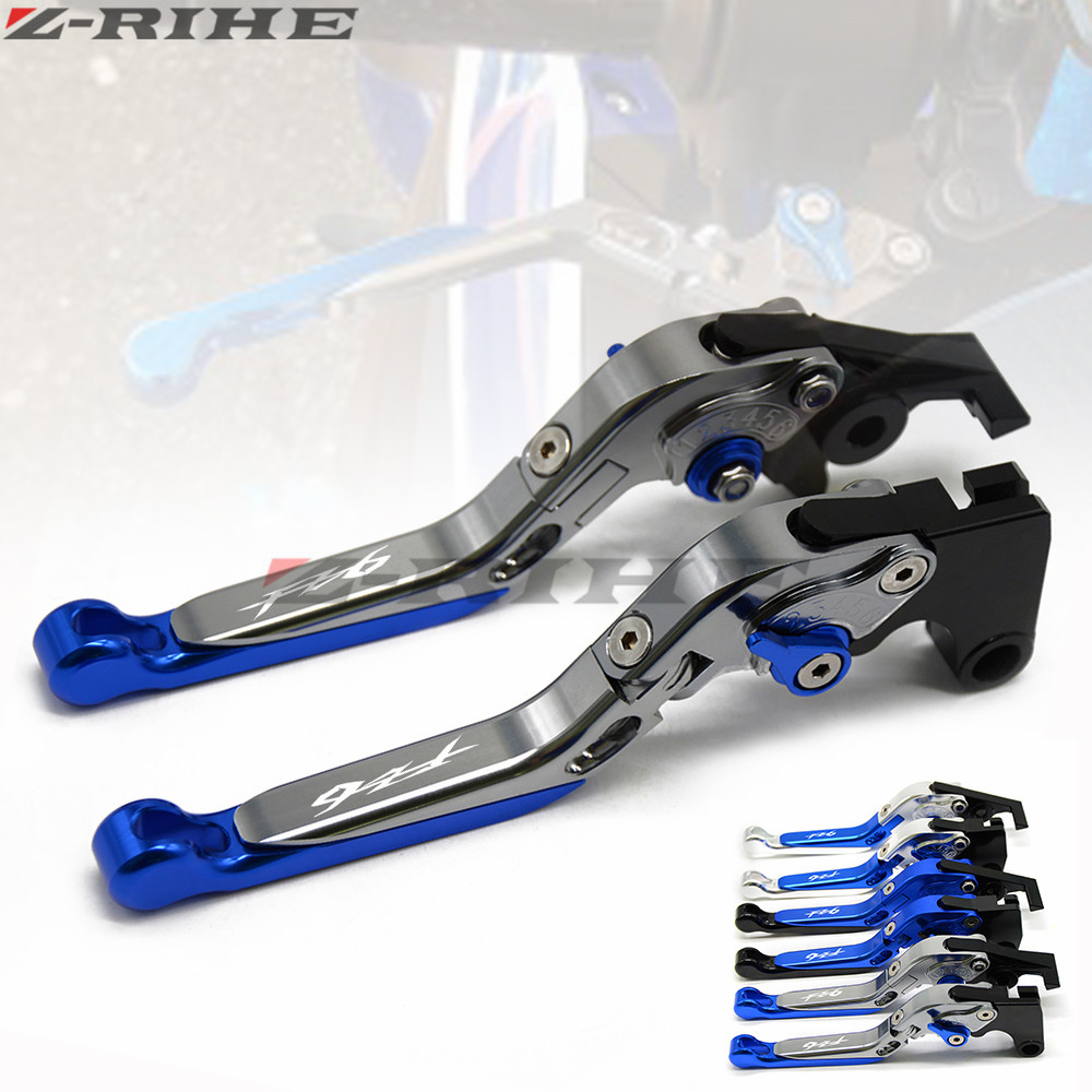 For Yamaha FZ-6 FZ 6 FZ6 FAZER 2004-2010  FZ6R 2009-2015 FZ8 2011-2015 Adjustable Motorcycle Brake Clutch Levers FZ6 LOGO new style aluminum cnc adjustable motorcycle brake clutch lever for yamaha fz6 fazer 2004 2010 fz6r 2009 2015 fz8 2011 2015