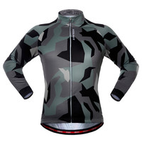 Camouflage Bicycle Clothing Long Sleeve Cycling Jerseys Men Women Cycle Clothes Riding Equipment Autumn Winter MTB Bike Jersey