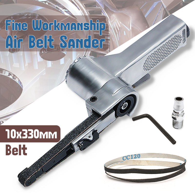 Steel Silver Air Belt Sander For Air Compressor Sanding With Sanding Belt Pneumatic Tools For Woodworking Furniture Polishing
