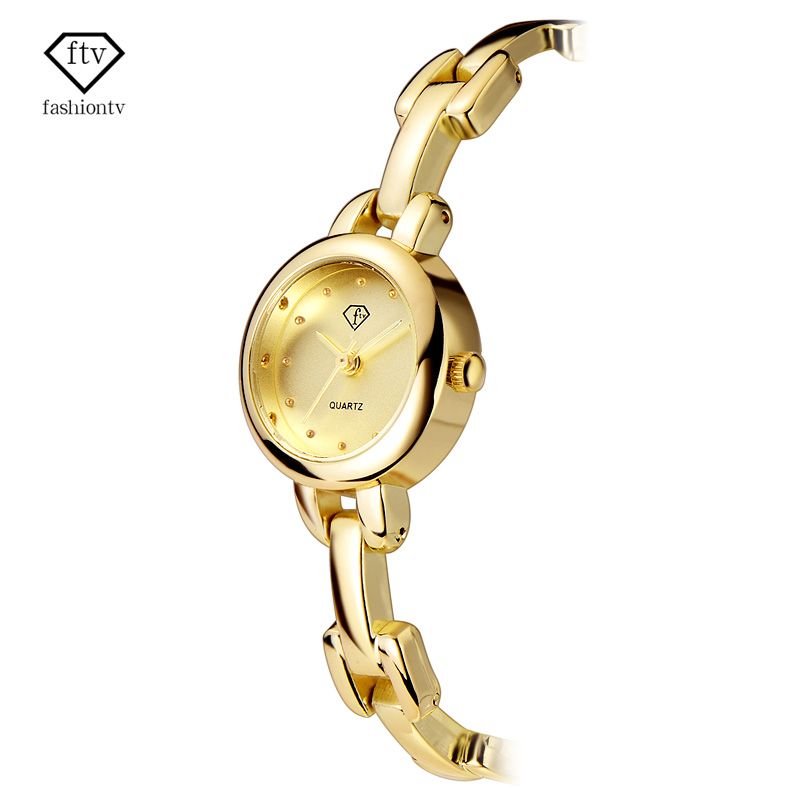 FTVBrand Women Watches Bracelet Strap Gold Watch women Ladies Watches for Small Wrists Beautiful Relogio Feminino 2017