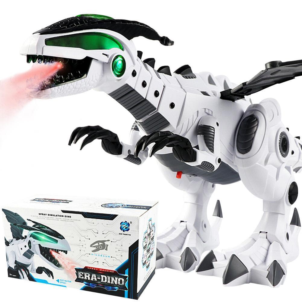 Dinosaur Toys For Kids Toys White Spray Electric Dinosaur Mechanical Pterosaurs Dinosaur Toy for Children Free Shipping