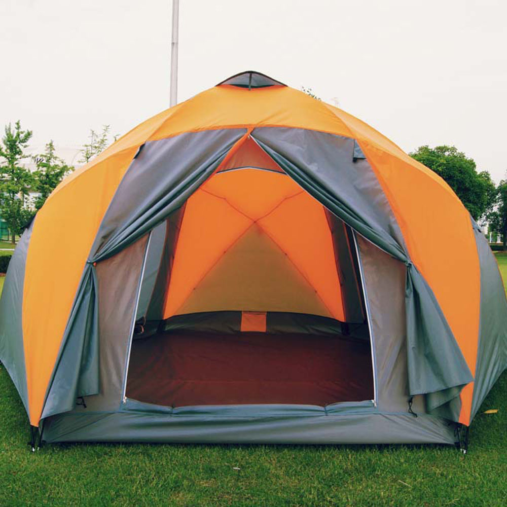 Extérieur 8-12 personnes famille tente grand espace plage tente épaissie résistant à la pluie Camping tente surdimensionnée camping tente