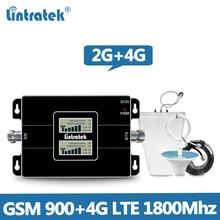 Lintretek GSM Repeater 900 MHz 4G Booster LTE 1800 MHz 2G 4G GSM 4G เครื่องขยายเสียง 900 1800 Repeater DCS Dual Band @ 5