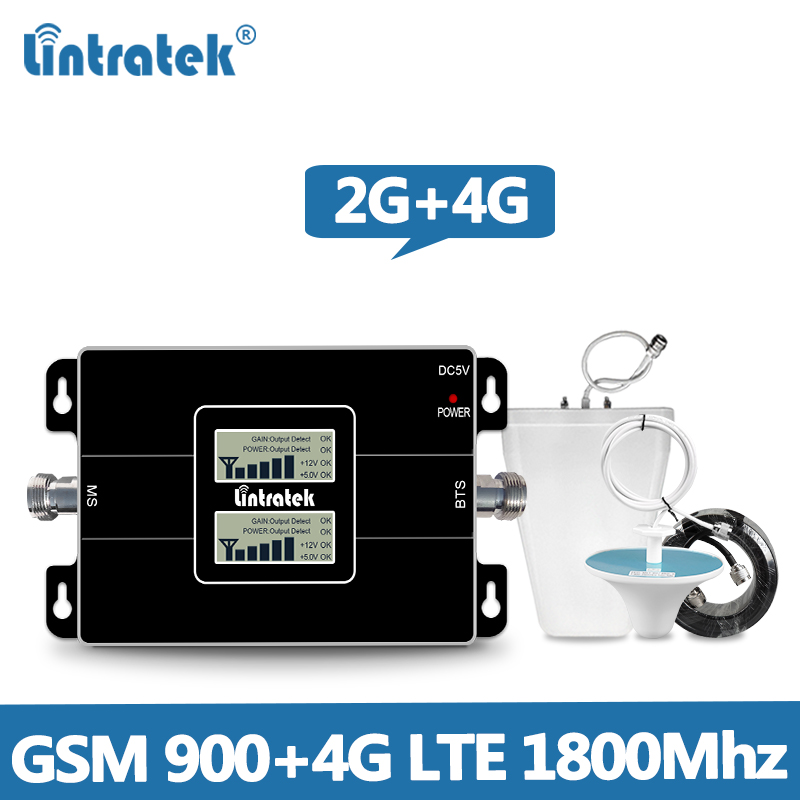 Lintretek GSM Repeater 900Mhz 4G Booster LTE 1800Mhz 2G 4G Signal Booster GSM 4G Amplifier 900 1800 Repeater DCS Dual Band @5