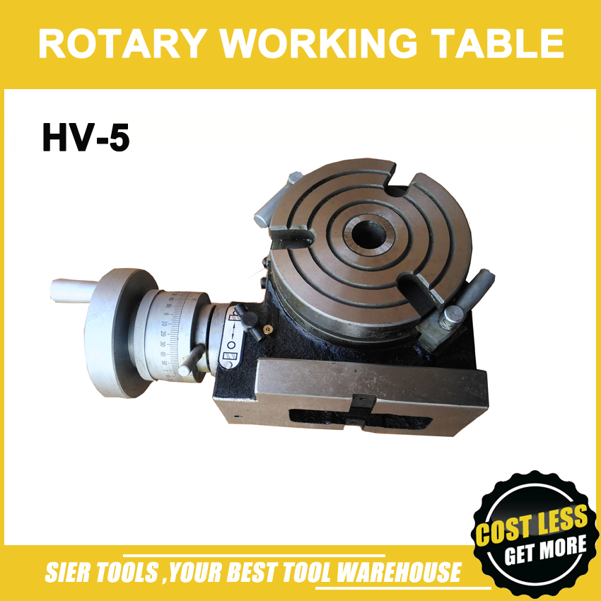 HV 5 Vertical and Horizontal Rotary Working Table 125mm Dia Mill Drill Machine Working Table