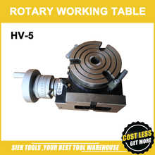HV-5 Vertical and Horizontal Rotary Working Table/125mm Dia Mill&Drill Machine Working Table - DISCOUNT ITEM  28% OFF Tools
