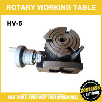 HV-5 Vertical and Horizontal Rotary Working Table/125mm Dia Mill&Drill Machine Working Table