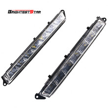 1649060351 1649060451 Pair L R LED Daytime Running Light Fog Lamp For Mercedes-Benz X164 X166 GL320 GL350 ML63 AMG 2 pcs led daytime running light for mercedes benz gl gl350 gl400 gl450 gl500 x164 2006 2009 best quality wholesale price newest