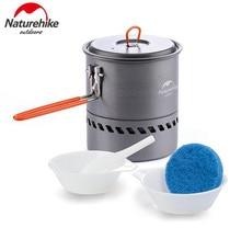 Naturehike 1.5L Lightweight Outdoor Aluminium Alloy Camping Exchanger Pot Heating Fast Folding Kettle Picnic Cookware