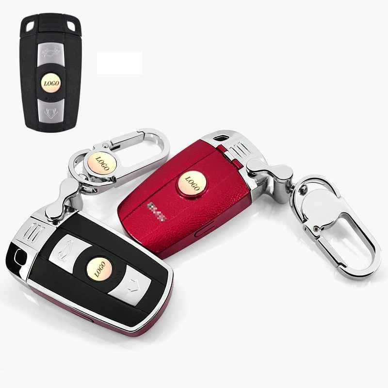 Автомобильный ключ чехол для BMW E90 E60 E70 E87 3 5 6 серия M3 M5 X1 X5 X6 Z4 ключница пульт дистанционного управления брелок для ключей кожи Пластик