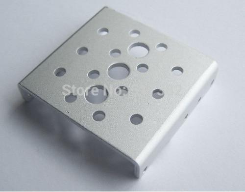 Kostenloser versand 10x Seite Halterung für RDS3115 roboter servo Silber sandstrahlen oxidation metall U klammern