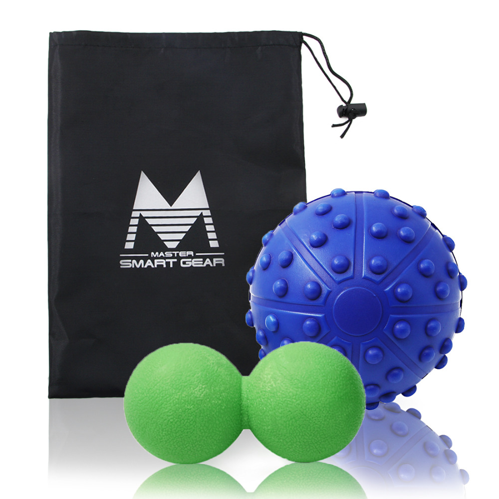 13cm Deep Tissue EVA Lacrosse Balls Crossfit Massage Ball Pain Stress Relief Trigger Point Therapy for Muscle Knot <font><b>Fitness</b></font> Ball