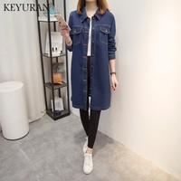 Boyfriend Women Plus Size 5XL Jeans Jackets Coat 2018 New Spring Autumn Female Casual Long Denim Coat Outerwear Casaco Femme