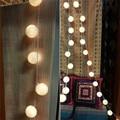 Новый 3 М 20 Хлопок Мяч LED Strip Аладин Фея Свет Шнура теплый Белый Свет Ватный Шарик Светодиодные Полосы Свадьба Рождество Питания