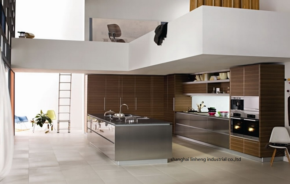 ПВХ/винил кухонный шкаф (LH PV008)