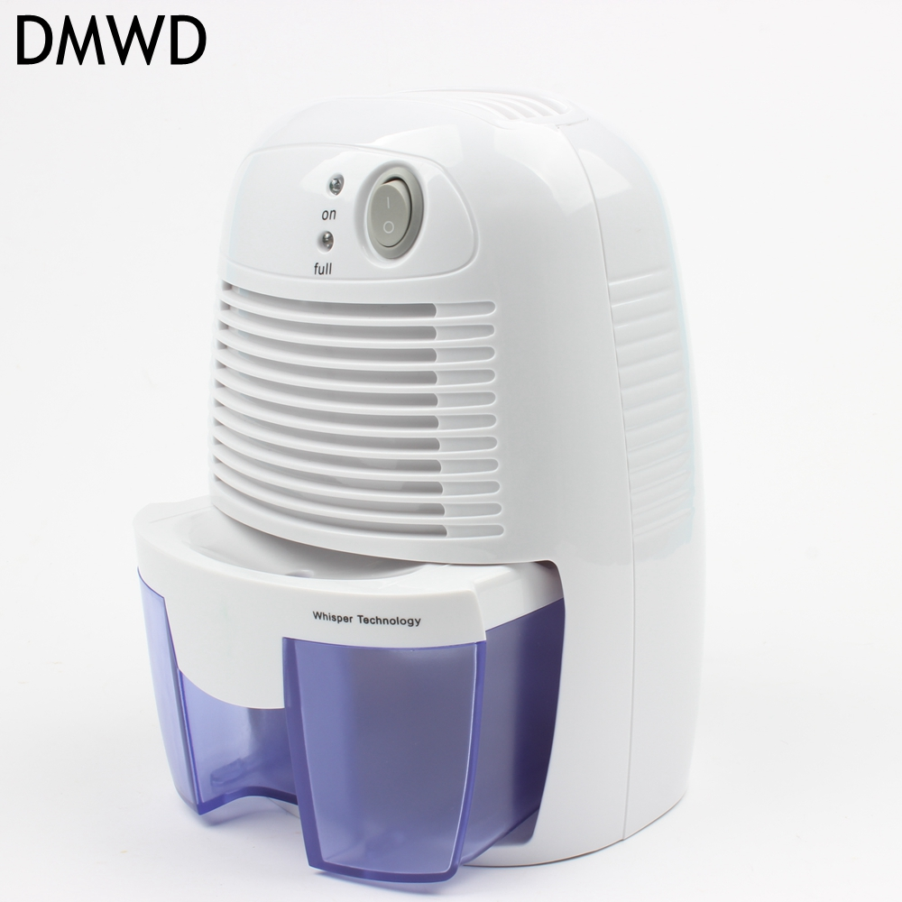 DMWD Dehumidifier for Home Portable 500ML Moisture Absorbing Air Dryer Auto-off LED indicator Air Dehumidifier