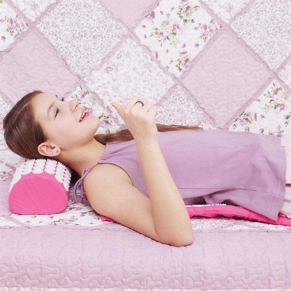 Esteira de Massagem Almofada de Massagem de Acupressão acupuntura Acupuntura Massagem Esteira de Massagem Aliviar A Dor Do Corpo Flor de Spike & Travesseiro
