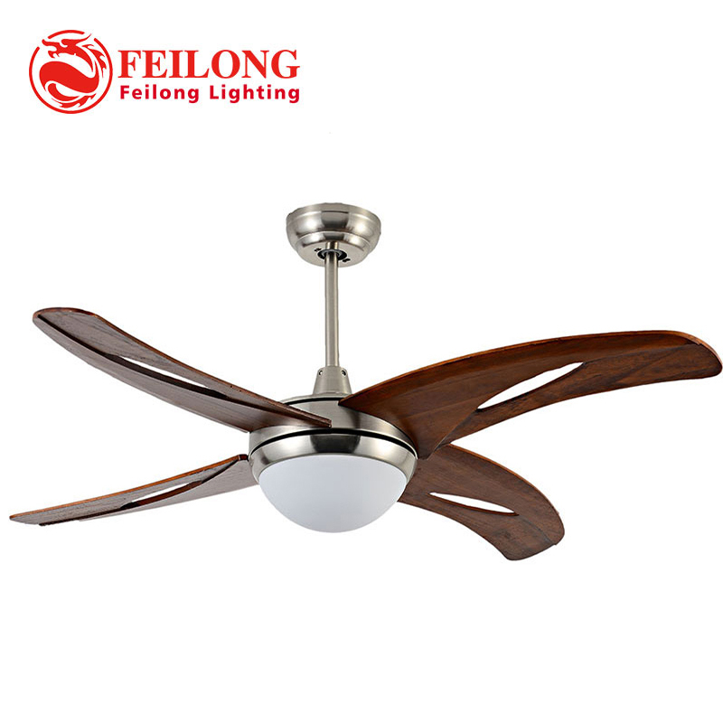 FOUR blades Single light hunter fans 42 inch indoor ceiling fan LAMP ...