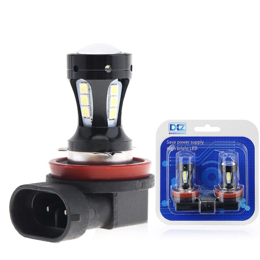 2Pcs lot Automotive LED fog lamp H8 H9 H11 3030 18 LED Fog Lamp
