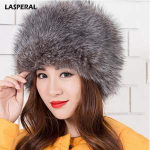 627b316b053 LASPERAL Women Lady Faux Fox Fur Russian Winter Hats Cap