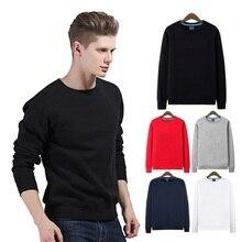 Hoodies Männer Solide Langarm Baumwolle dicke Beiläufigen Sweatshirt SW112