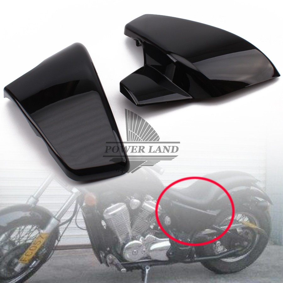Brand New Black ABS Battery Side Faring Cover Fit For Honda Shadow VT600 VLX 600 STEED400 1988-1998 for 88 98 honda shadow vt600 vlx 600 steed 400 motorcycle abs plastic frame neck cover cowl wire covers side frame guard black