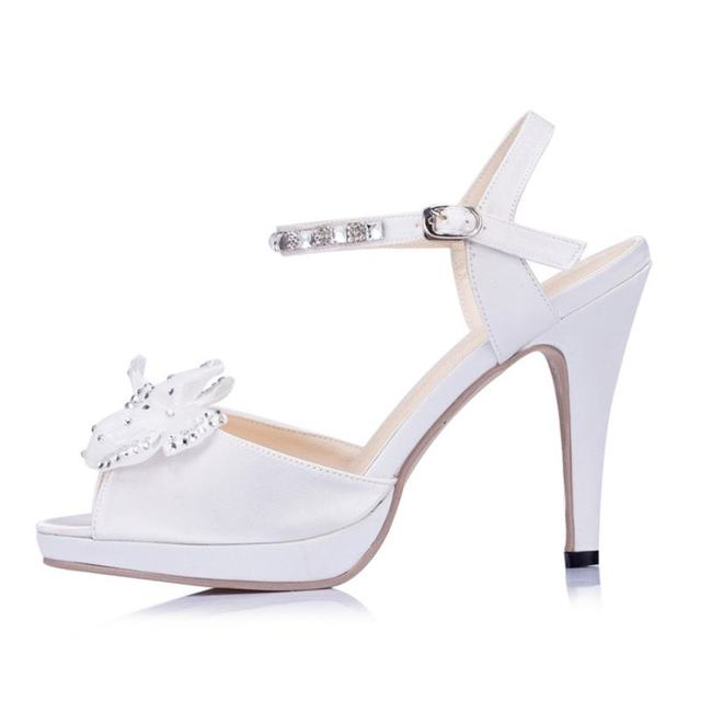 Zapatos de noche de marfil Zapatos de boda de satén Peep Toe Slingbacks Zapatos de boda de mujer  black-us5.5 / eu36 / uk3.5 / cn35  white-us5 / eu35 / uk3 / cn34  red-us8.5 / eu39 / uk6.5 / cn40   green-us8 / eu39 / uk6 / cn39 hIBRZ