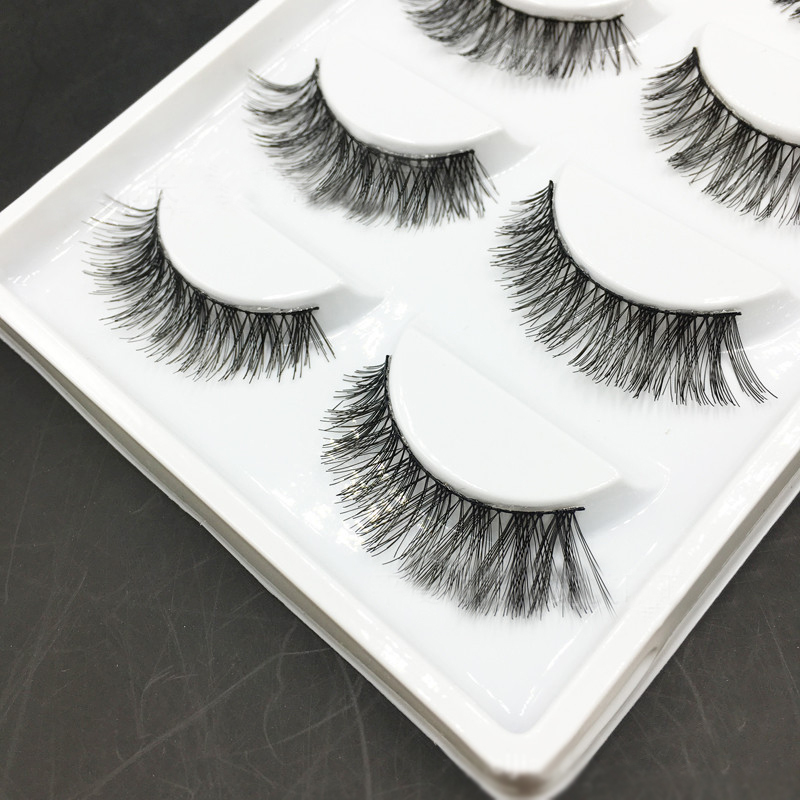 5 Pairs/Set Of Women False Eyelashes Natural Thick Long Handmade High Quality Extension Makeup Tools For Ladies Dates Occasion