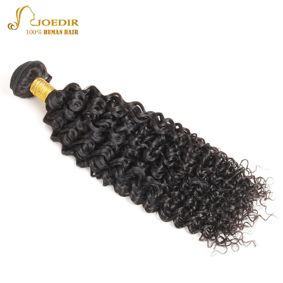 Joedir 1 Piece Afro Kinky Curly Bundles Peruvian Virgin Hair Weave Bundles Deals 10-26 inch Unprocessed Human Hair Extensions
