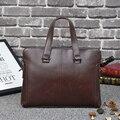 2017 Original Design Briefcase New Men 's Handbag Cross Section Leather Handbag Retro Tide Package Messenger Business Bag MB13