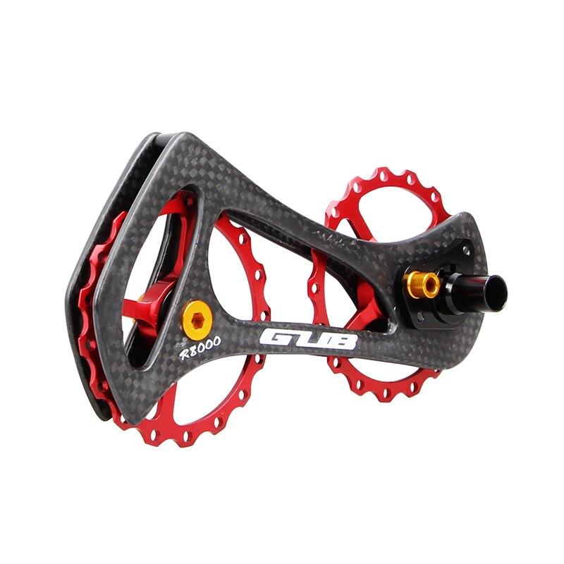 GUB R8000 17 T carbone route vélo arrière dérailleur poulies roulement jockey roues pour SHIMAN0 6800/6870/9000/9070/Ultegra/DURA ACE