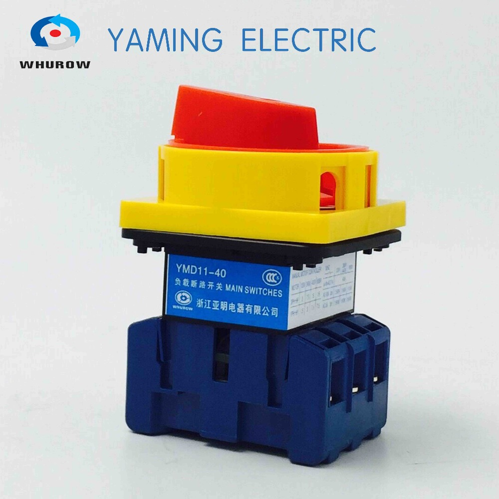 Isolamento interruttore 40A 3 Fase 6 terminale a vite Universale di partenza cam interruttore rotante YMD11-40A