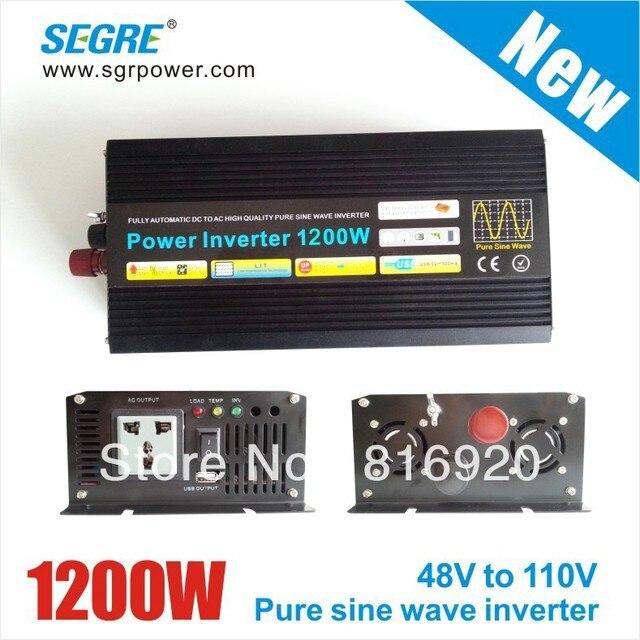 New 1200w 48v 110v ac power solar inverter pure sine wave inverter frequency inverter.