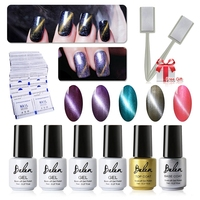 Belen UV LED Cat Eye Gel Polish 5 pcs Soak Off Gel Magnétique polonais et Top Coat Base 50 Remover Wrap Livraison Aimant Bâton Aimant Gel