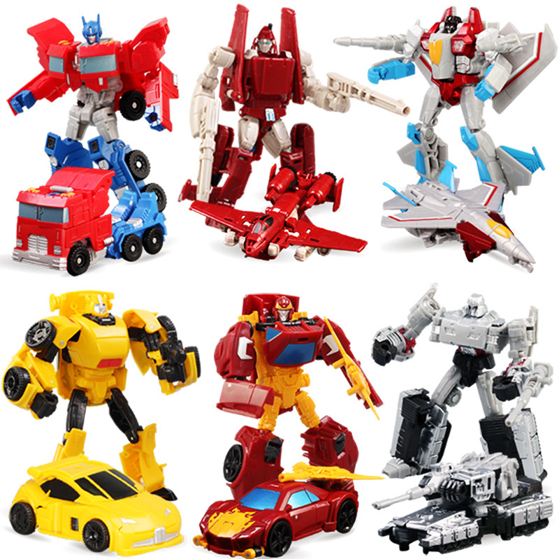 2017 Anime Transformation 4 Cars Robots Toys PVC Action Figures Toys  Brinquedos Model Boy Toy Christmas Gifts  juguetes CM meng badi 1pcs lot transformation toys mini robots car action figures toys brinquedos kids toys gift