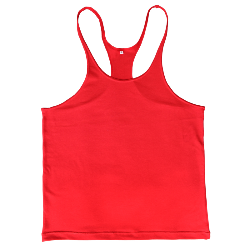 Plain   Tank     Top   Men Singlet Bodybuilding Stringers Sleeveless Clothes Fitness Vest Muscle Shirt Clothing
