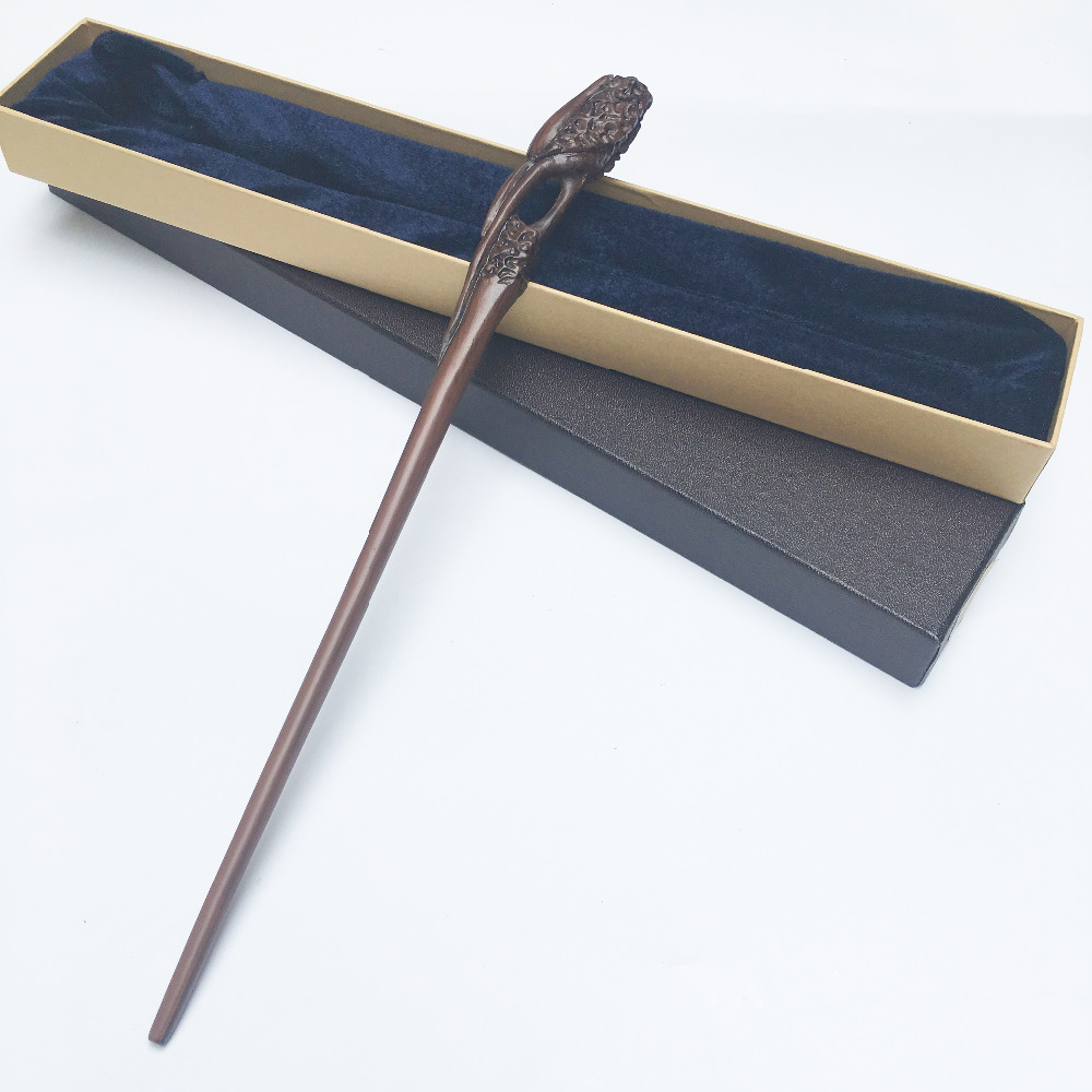 Colsplay Metal Core Newest Quality Deluxe COS Kingsley Shacklebolt Magic Wands/Stick with Gift Box Packing Harry Potter