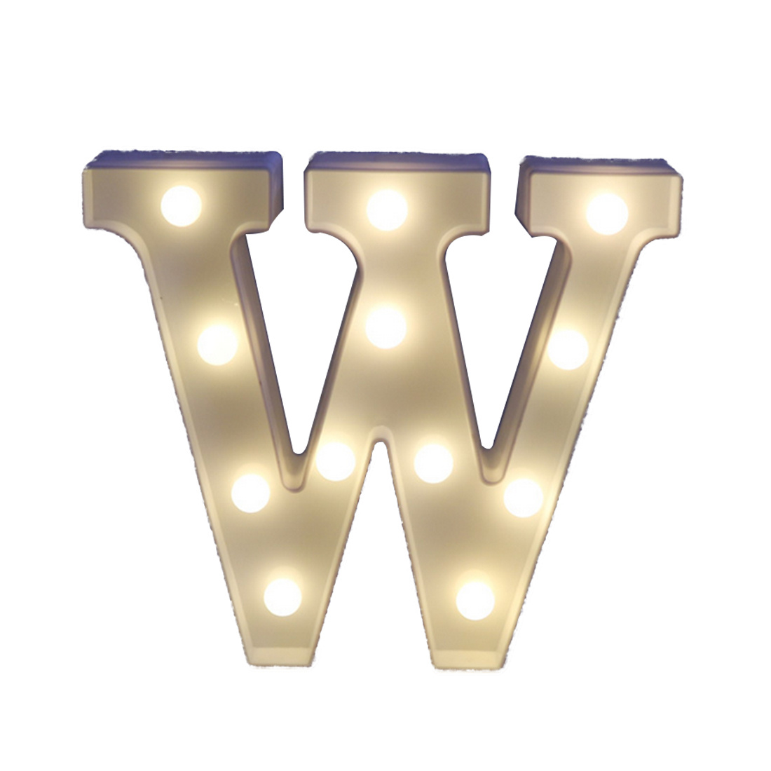 Decoration Wedding Party Window Display Light U-z Light Up Decoration Symbol Indoor Wall Alphabet Letter Led Light White