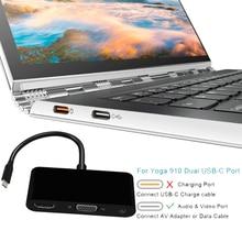USB 3,1 Тип C к HDMI (4K * 2 K) VGA 3,5 мм Aduio видео конвертер USB3.0 концентратор адаптер Дисплей док удлинитель HD 4K для MACBook Pro