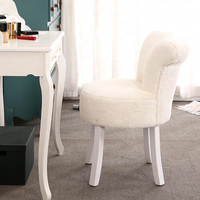 European Dressing Stool Back Makeup Chair Nail Table Bedroom Shoe Bench Makeup Armchair Rocking Chair Moder Livingroom Chairs