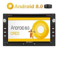 Тыква 2 Din 7 Android 8,0 автомобильный dvd плеер gps Восьмиядерный 4 Гб ОЗУ 32 Гб ПЗУ быстрая загрузка автомобиля стерео для VW/Jetta/Golf FM AM радио