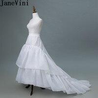 JaneVini High Quality 3 Hoops Bridal Underskirt Petticoat for Wedding Dress Train Women A Line Underwear Crinoline Accessories