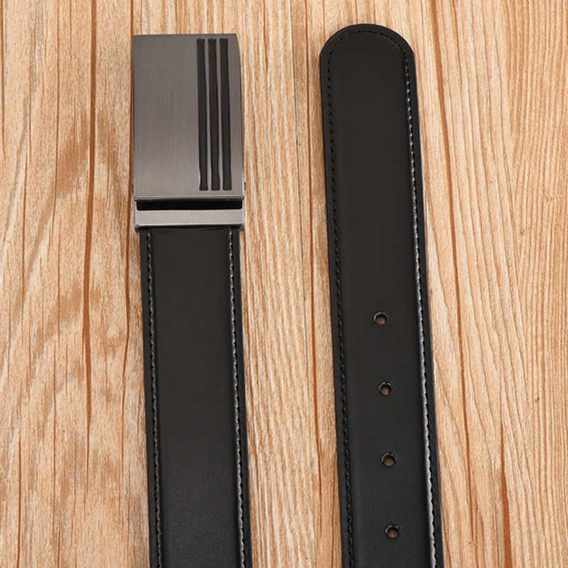 Dinisiton Sapi Kulit Asli Desain Sabuk untuk Pria Berkualitas Tinggi Kulit Sabuk Pria Taktis Tali Ceinture Homme Luxe Marque