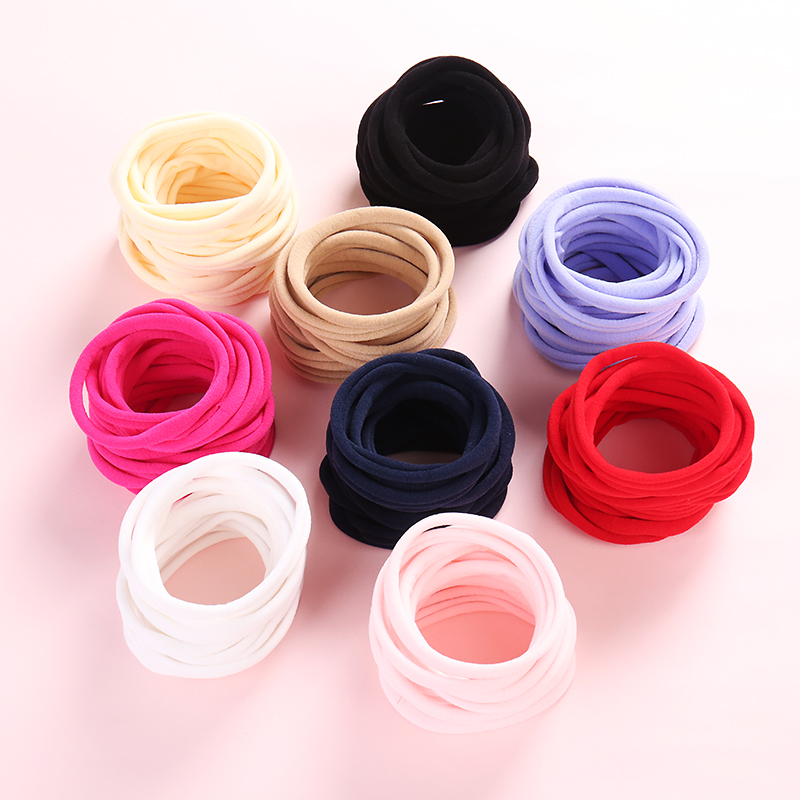 Nylon Elastic Girls Headband DIY Headband Newborn Skinny Very Stretchy One Size Fits Most Nylon Spandex Hair Accessories