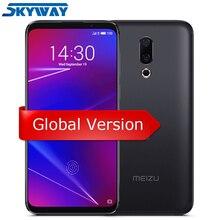 Orijinal Meizu 16 4G LTE 6G 64G Küresel Sürüm cep telefonu Snapdragon 710 Octa Çekirdek 6.0