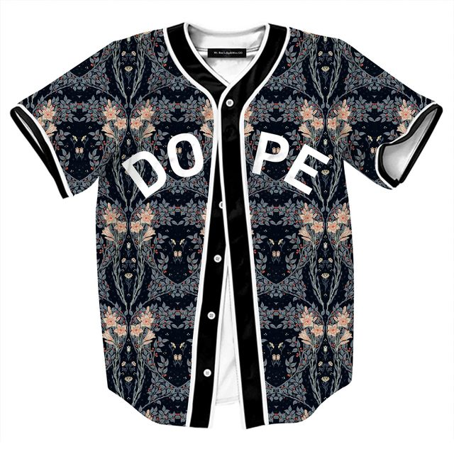 Floral Baseball Jersey 3d Shirt Men Women Brand Design Mens Baseball