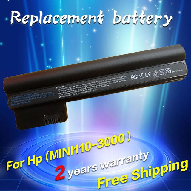 Jigu bateria do portátil para hp/compaq mini 110-3000 cq10-400 cq10-500 cq10 607763-001 607762-001 hstnn-db1u hstnn-e04c hstnn-06ty