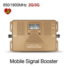 Лучшая цена! ЖК DUAL BAND скорость 2 г + 3 г 850/1900 мГц мобильные усилитель сигнала сигнал повторителя усилитель только Усилитель