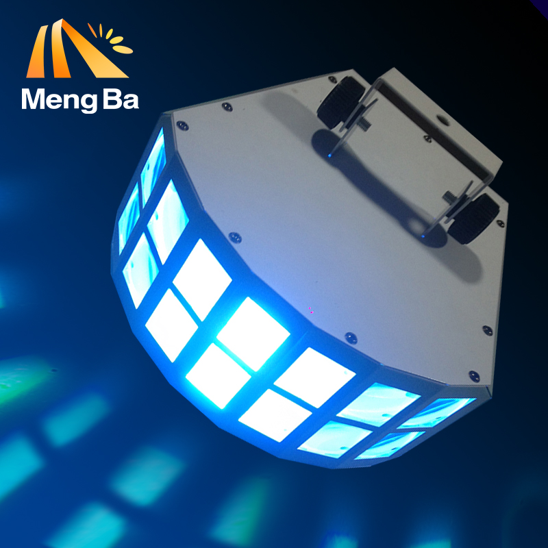Бесплатная доставка привело Сценический Эффект луча свет 2X10 Вт RGBW 4in1 бабочка луч света ce двойная линия Стекло объектива висит уплотнительн... ...
